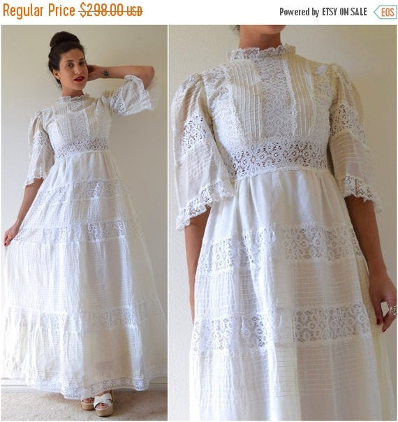 Flash sale 20 off vintage 50s 60s white by littlelightvtg for Mexican wedding dresses for sale