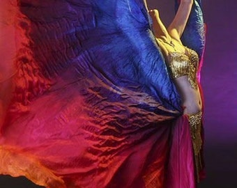 Belly dance costume silk veil IN STOCK rectangle