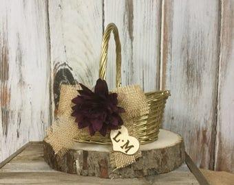 Flower Girl's Wedding Basket, Shabby Chic
