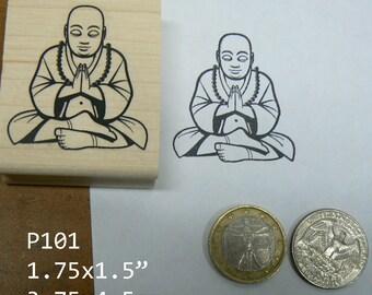 P101 Buddha Rubber Stamp