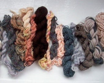 Grab bag assorted yarn 50g grey beige neutrals M0117-3