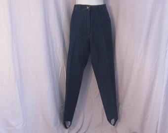 """Denim Pants by RanFashion 30"""" waist Vintage Stirrup Blue Jeans, Riding Jeans,"""