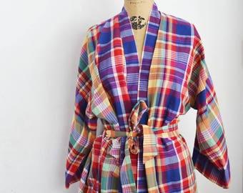 vintage Pierre Cardin cotton  robe kimono style