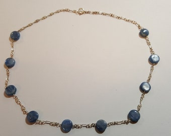 """Kyanite Necklace, sterling silver, 18 """""""