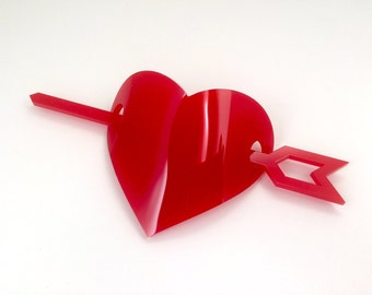 Cupid's Heart Barrette, Free Shipping in the US