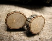 Pine Rustic Twig Wooden Cuff Links by Tanja Sova