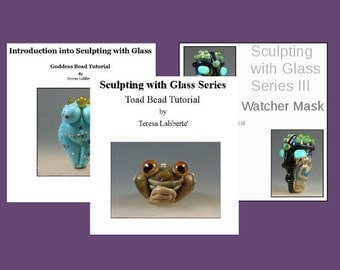 Tutorial Bundle - Lampwork Tutorial- Sculpting with Glass Series - All 3 Tutorials at Discounted Price - LavenderCreek Glass