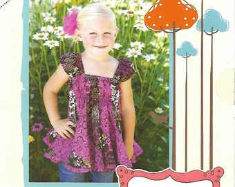 Girls Beverly Belle Top | Izzy & Ivy Designs | Little Girls Pattern | Twirly Blouse Multi Sizing | Toddler - Little Girl - Teen - Swing Top