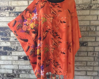 RESERVED FOR PAULA.....Plus Size Lightweight Rayon Tunic