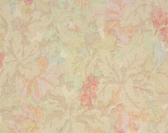 1930s Vintage Wallpaper by the Yard - Antique Wallpaper Watercolor Pink Floral