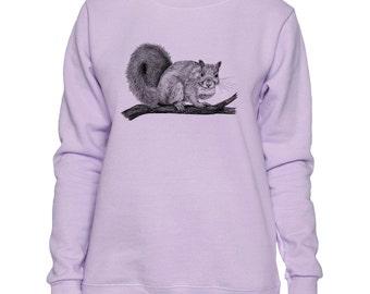 Squirrel Cross Heart Art LADIES Sweatshirt Small - 2XL