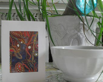 Abstract Greeting Card OOAK ATC ACEO