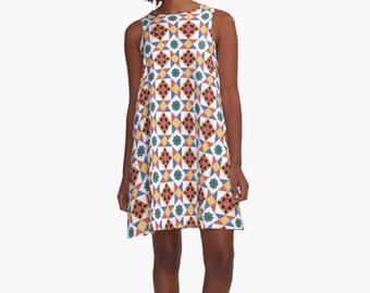 Moroccan Dress, Woman Dress, Dress for Woman, A Line Dress, Modern Dress, Girl Dress, Colorful Dress, summer dress, Gifts for her