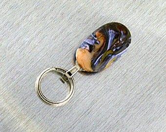 Magnetic ID Holder / Magnetic Eyeglass Holder Handmade with Lampwork Glass, Magnetic Eyeglass Lanyard, Magnetic Lanyard Badge Holder