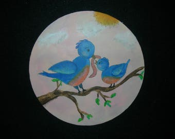 Original Bluebird painting- Perfect for Baby or Child's room