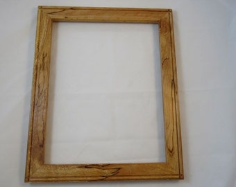 11x14 Spalted Light Curly Beech Picture Frame B3