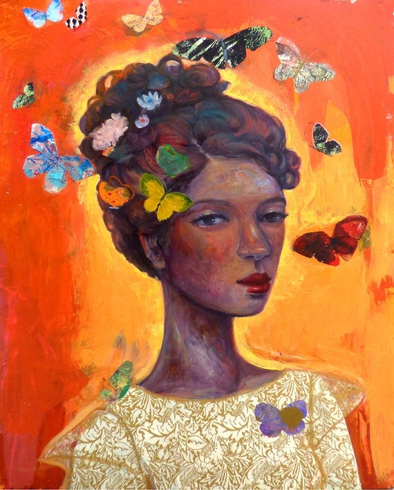 "Butterfly Girl  ""Garden of My Soul"" series"