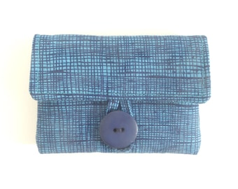 rosary pouch catholic gift case for rosary. blue navy crosshatch pouch. first communion gift. baptism gift idea. confirmation