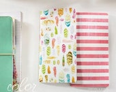 Webster's Pages NEW Color Crush Collection Travelers Planner Inserts Feathers & Stipes