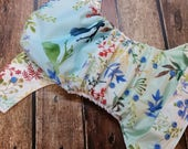 One Size Pocket Cloth Diaper Springtime Songbirds 15-40 lbs Limited Edition PUL