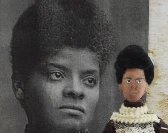 Ida B. Wells Doll Miniature Sized African American Woman Black History