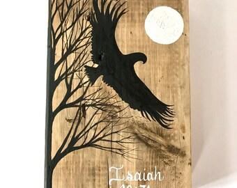 Eagle Art. Scripture Inspired Art. Reclaimed Wood Art