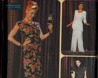 OOP Simplicity 9969 Sewing Pattern Sizes 6-8-10-12 Lounge Singer Torch Singer Dress WWII Era USO Performance Tour