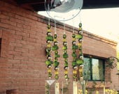 Windchime Moss Green Glass