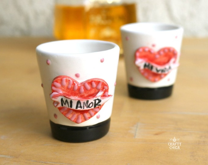 Mi Amor Mi Vida Shot Glasses (Set of 2)