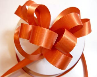 Burnt Orange Ribbon, Offray Burnt Sienna Double Face Satin Ribbon 5/8 inch wide x 50 yards