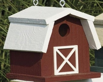 Amish Handemade Farm Barn Birdhouse