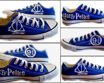 Harry Potter, Converse, Chuck Taylor, Wedding Shoes, Sci Fi, Womens Shoes, Geek, Personalize, Optional Shoe Colors, Shoes Inlcuded