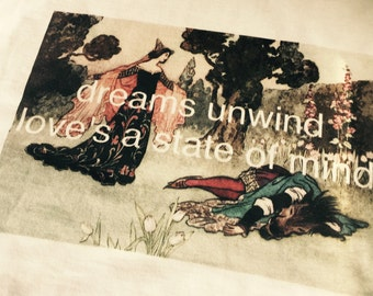 Stevie Nicks ~ Fleetwood Mac ~ t shirt  ~ super soft 100% cotton ~ dreams unwind love's a state of mind