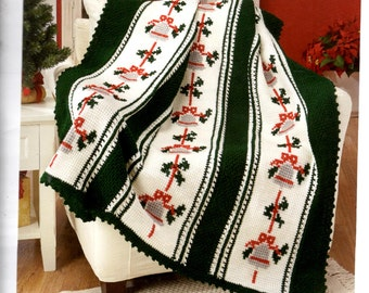 Custom Made Award Winning Christmas Silver Bells Afghan Gift Present Christmas Birthday Mothers Day Made to Order 8-10 weeks delivery