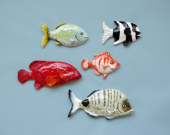 Fish wall hanging - School of fish