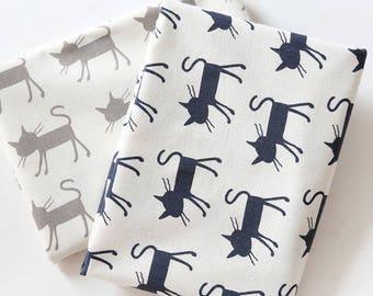 4606 - Cat Cotton Linen Blend Fabric - 59 Inch (Width) x 1/2 Yard (Length)