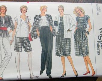 Vintage Vogue Jacket, Skirt, Pants, Shorts and Top Pattern #8617, Uncut, Sizes 14 thru 18