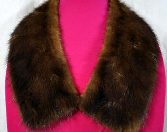 Vintage Brown Fur Mink Collar