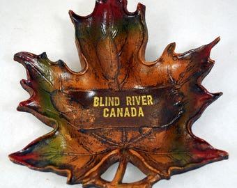 Vintage Souvenir from Blind River Canada - Durwood Maple Leaf - John Walter and Son Ltd.