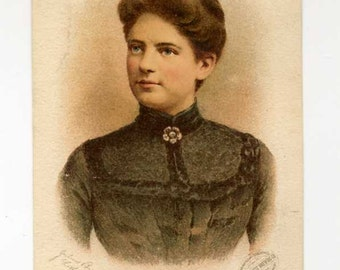 Victorian Trade Card - Mrs. President Cleveland - The Best Tonic - Late 1800's