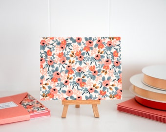 Rifle Paper Co - Fabric Note Cards - Rosa Peach - Les Fleurs - Cotton + Steel // Note Cards // Stationery // Thank You Cards //