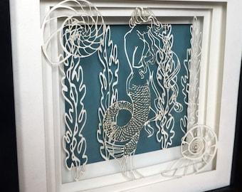 Mermaid Paper Shadow Box
