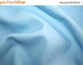 SALE SPECIAL OFFER! Sky blue 80/20 cotton wool twill fabric 0.50 metre - made in Europe - ideal for smocking