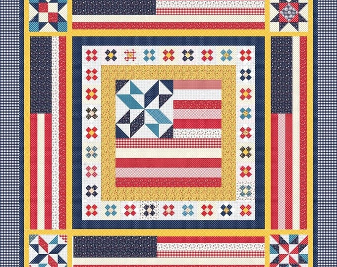 "Featured listing image: SALE!!!  Land that I Love Quilt Kit featuring Gingham Girls by Amy Smart (70"" x 70"")"