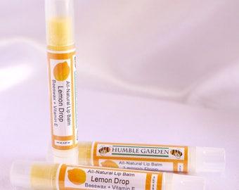 Lemondrop flavored Beeswax Lip Balm - handcrafted