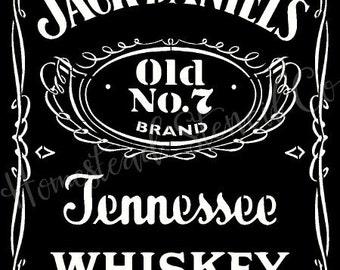 Jack daniels etsy for Pochoir jack daniels