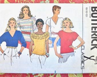 Vintage 1980s Womens Blouses Pattern - Butterick 4861