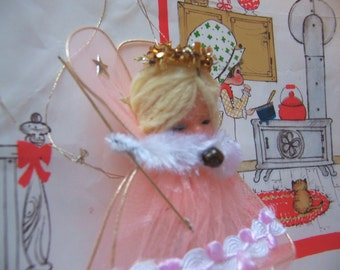 tiny tulle fairy angel ornament