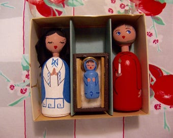 genuine anne beate nativity scene