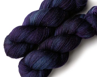 Lace Yarn Glimmer Merino and Silk - Nightshade, 870 yards